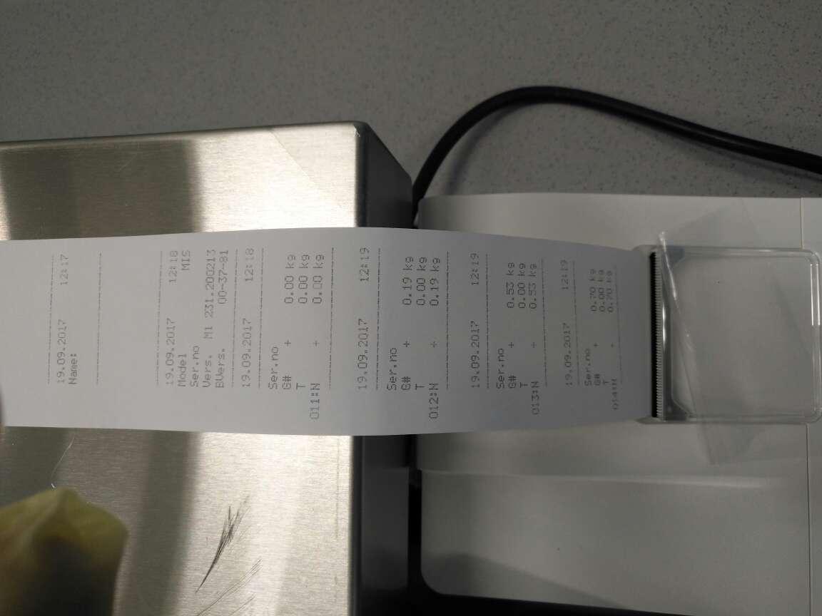 赛多利斯Midrics台秤打印机细节
