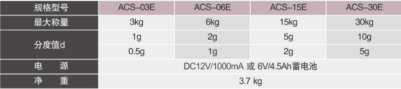 ACS-E防水秤参数